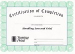 Handling Loss and Grief Certificate of Completion