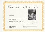 Restoring Families Certificate of Completion