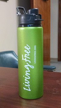 Green 24 oz Living Free Water Bottle