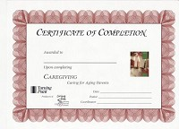 Caregiving: Caring for Aging Parents Certificate of Completion