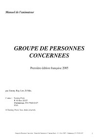 French Concerned Persons Facilitator's Guide Download