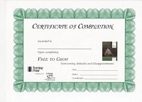 Free to Grow Certificate of Completion