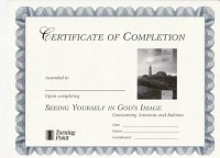 Seeing Yourself in God's Image Certificate of Completion
