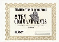 Ten Commandments Certificate of Completion