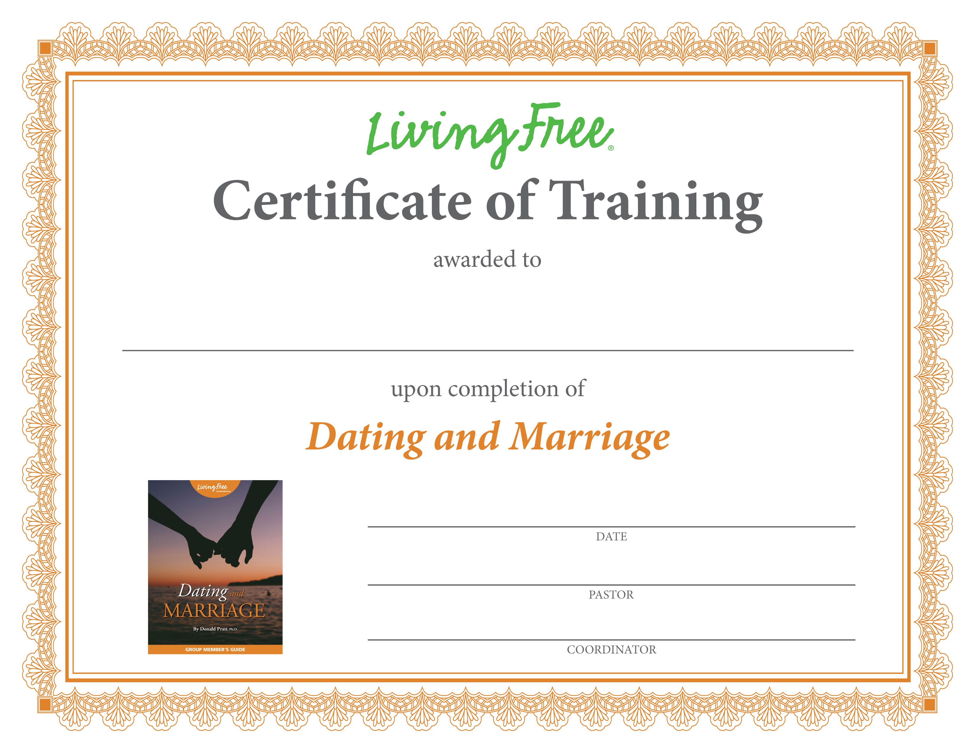Dating and Marriage Certificate