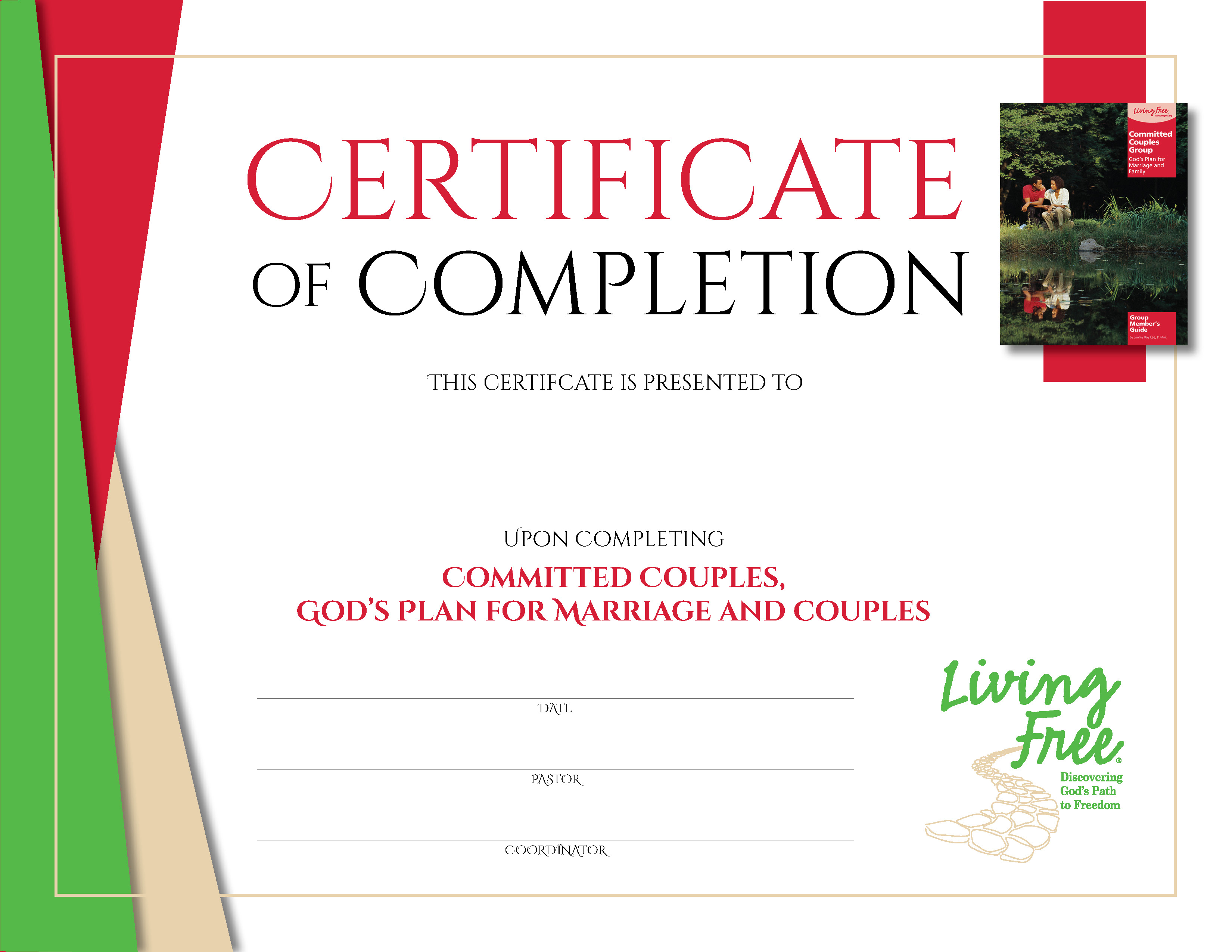 Committed Couples Digital Certificate