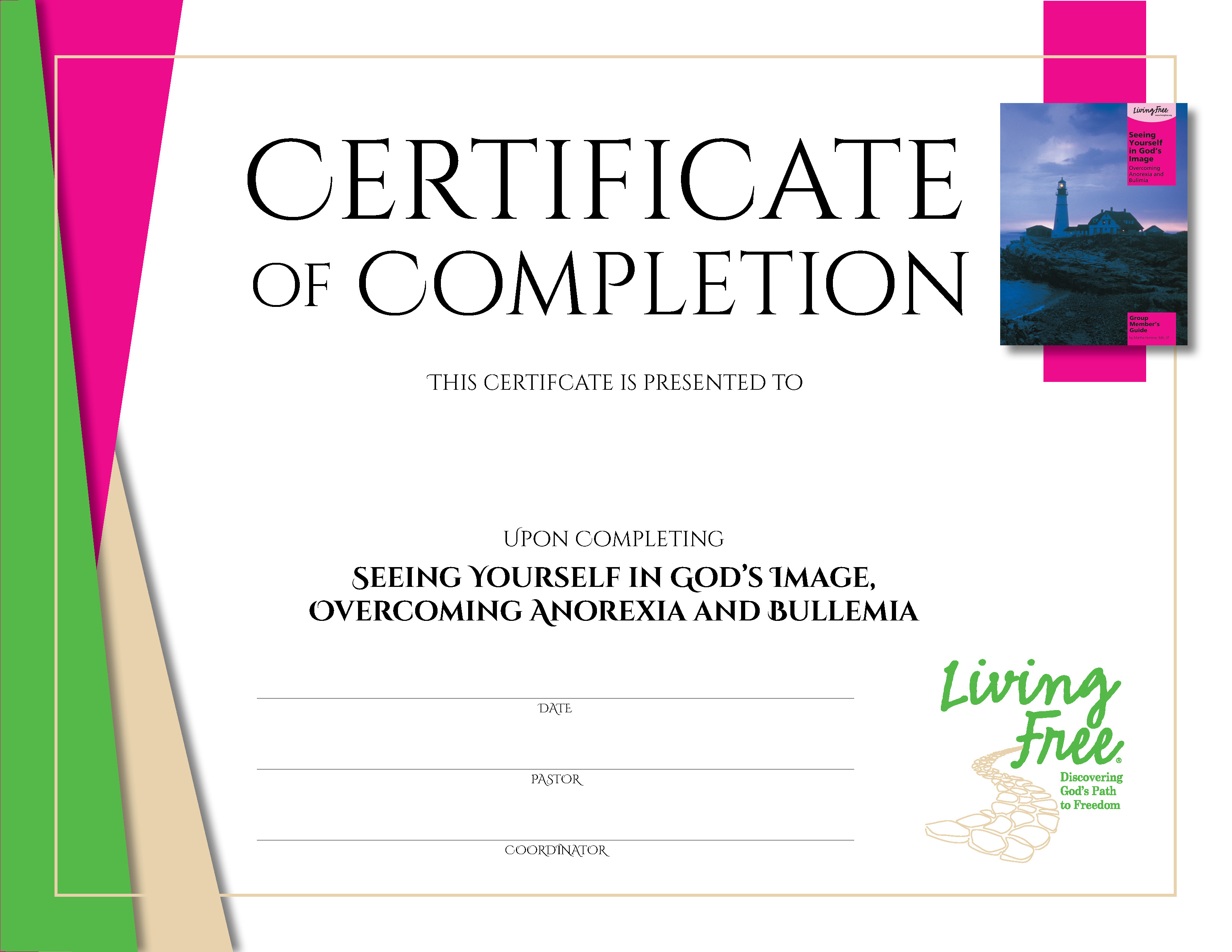 Seeing Yourself in God's Image Digital Certificate