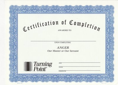 graphic relating to Printable Anger Management Certificate identify Anger: Our Learn or Our Servant Certification of Completion