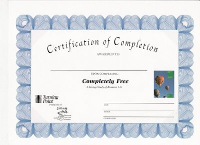 Completely Free Certificate of Completion