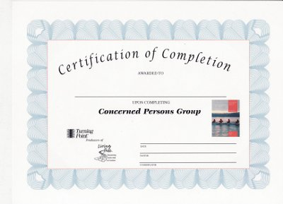 Concerned Persons Certificate of Completion