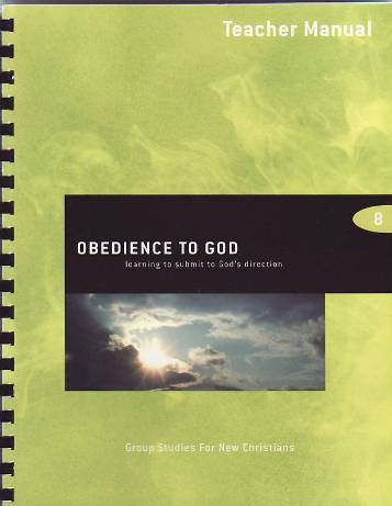 Obedience to God Teacher Manual