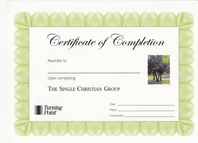 The Single Christian Certificate of Completion
