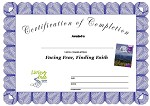 Facing Fear, Finding Faith Certificate of Completion